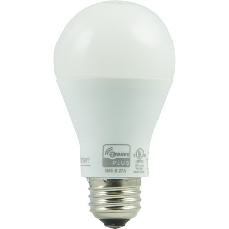 enbrighten dimmable white smart a19 light bulb 60w equivalent hub required. Black Bedroom Furniture Sets. Home Design Ideas