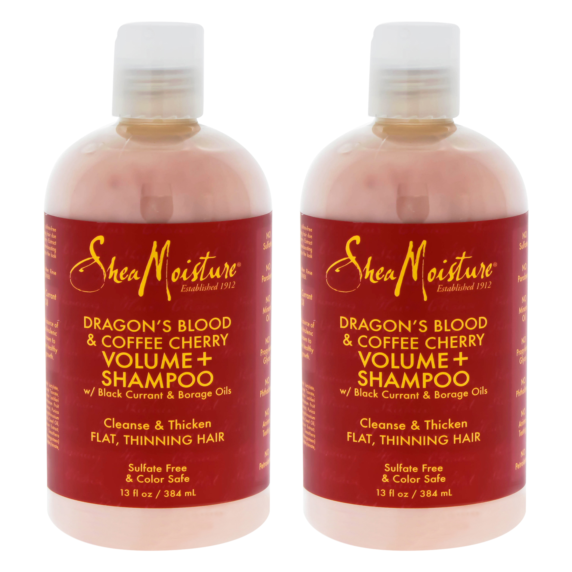 Dragons Blood and Coffee Cherry Volume Shampoo by Shea Moisture for Unisex - 13 oz Shampoo - Pack of 2