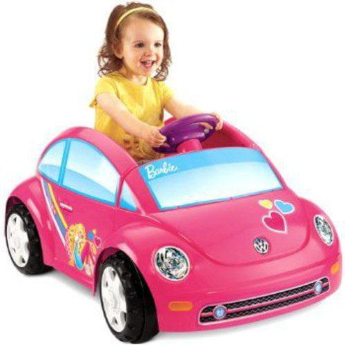 Fisher-Price Power Wheels Barbie Volkswagen New Beetle 6-Volt Battery-Powered Ride-On