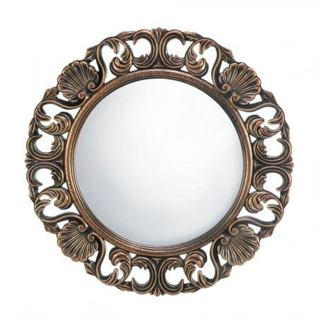 Wall Mirrors Decorative, Mirror Wall Art, Antique Heirloom Round Wall Mirror