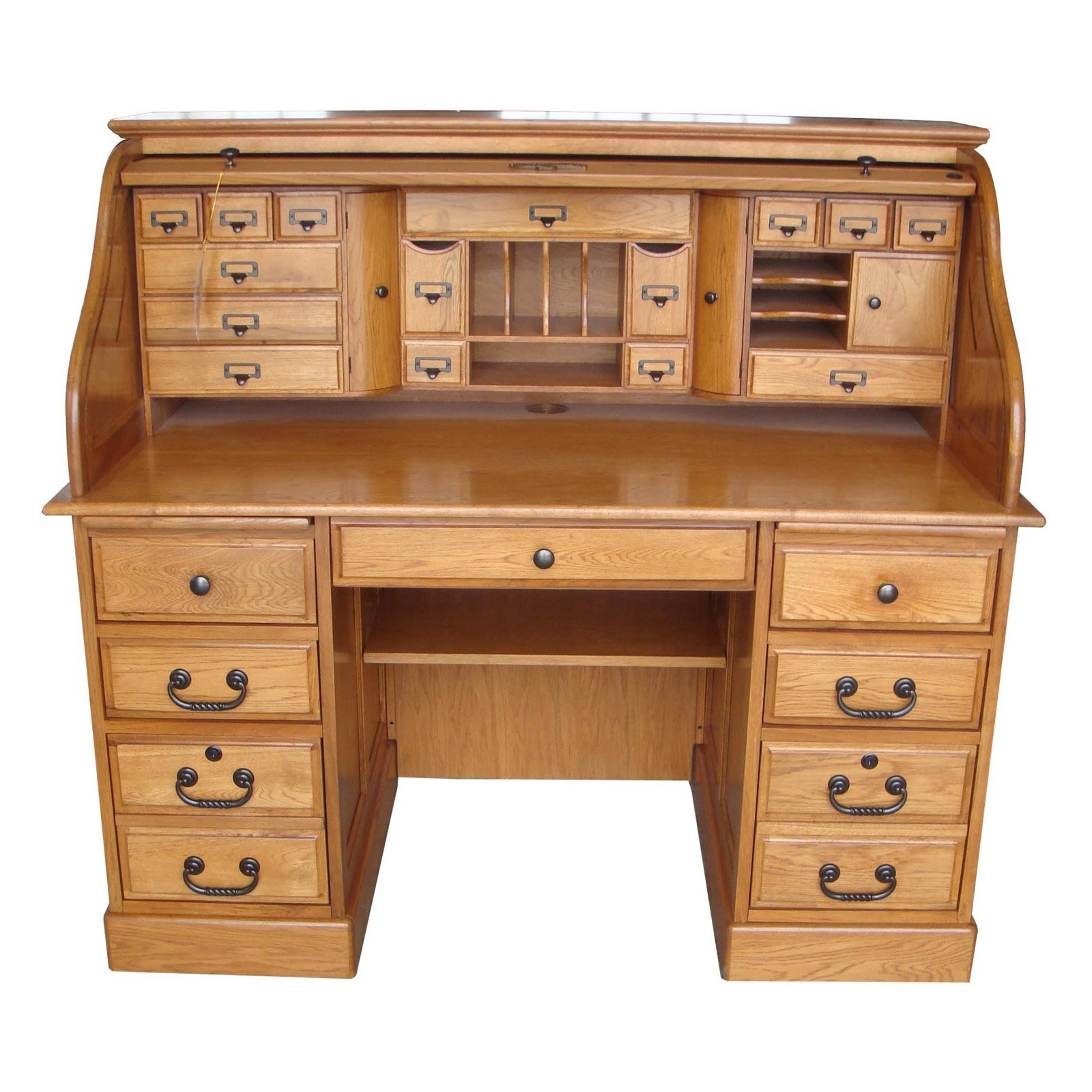 Walmart Home Furniture: Chelsea Home Furniture Marlin 54 In. Deluxe Roll Top Desk