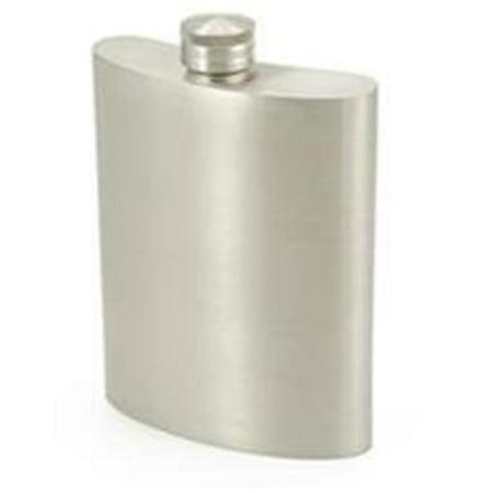 Gleam Satin Finish Genuine Pewter 6oz Hip Flask