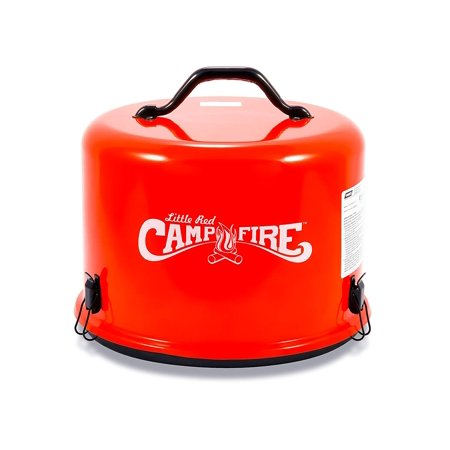 Portable Gas Campfire (Little Red Campfire 11.25-Inch Portable Propane Outdoor Camp Fire by Camco , Approved For RV Campgrounds - 65,000 BTU's Includes 8 Foot Propane Hose (58031))
