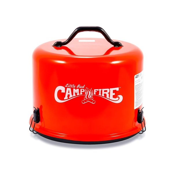 Camco Little Red Campfire 11 25 Inch Portable Propane Outdoor Camp Fire Approved For Rv Campgrounds 65 000 Btu S Includes 8 Foot Propane Hose 58031 Walmart Com Walmart Com