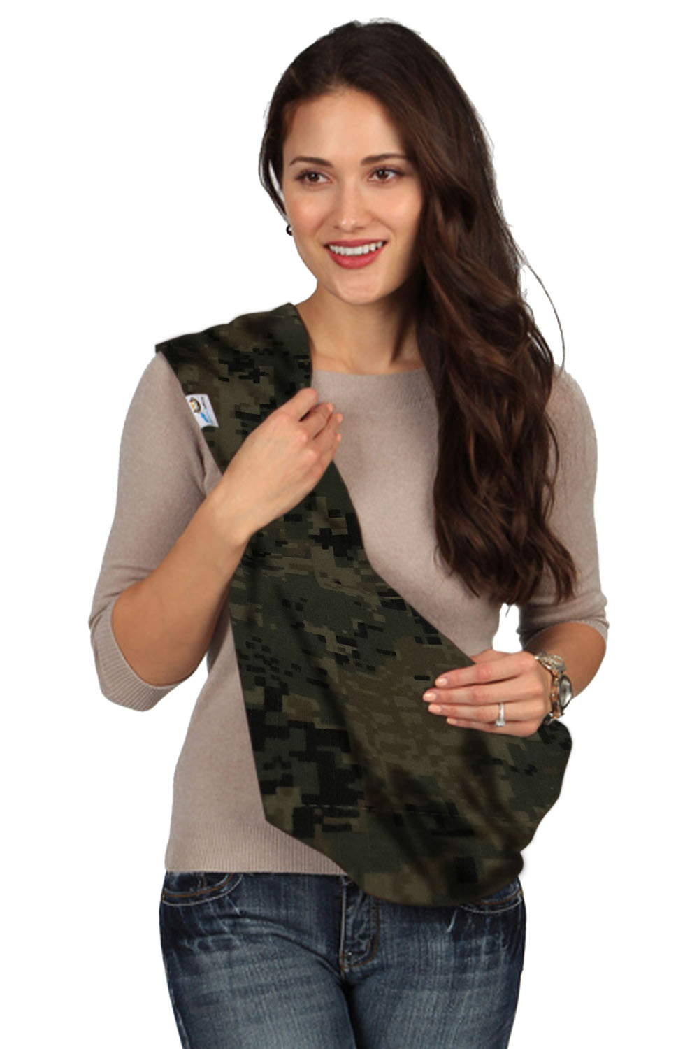 HugaMonkey Camouflage Dark Green Military Infant Baby Soft Carrier Sling by Military Baby Slings