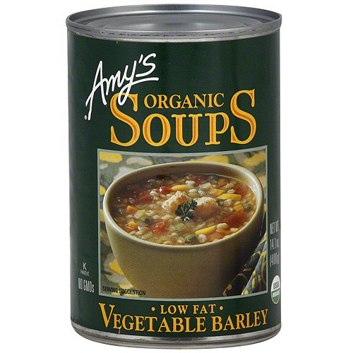Amy's Organic Low Fat Vegetable Barley Soup, 14.1 oz (Pack of 12)