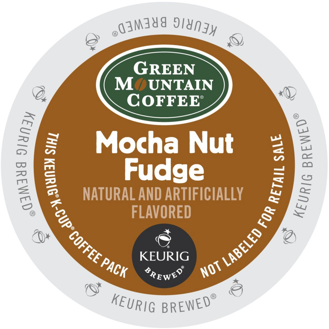 Green Mountain Mocha Nut Fudge Coffee, K-Cup Portion Pack for Keurig Brewers (96 Count) (4x16oz)