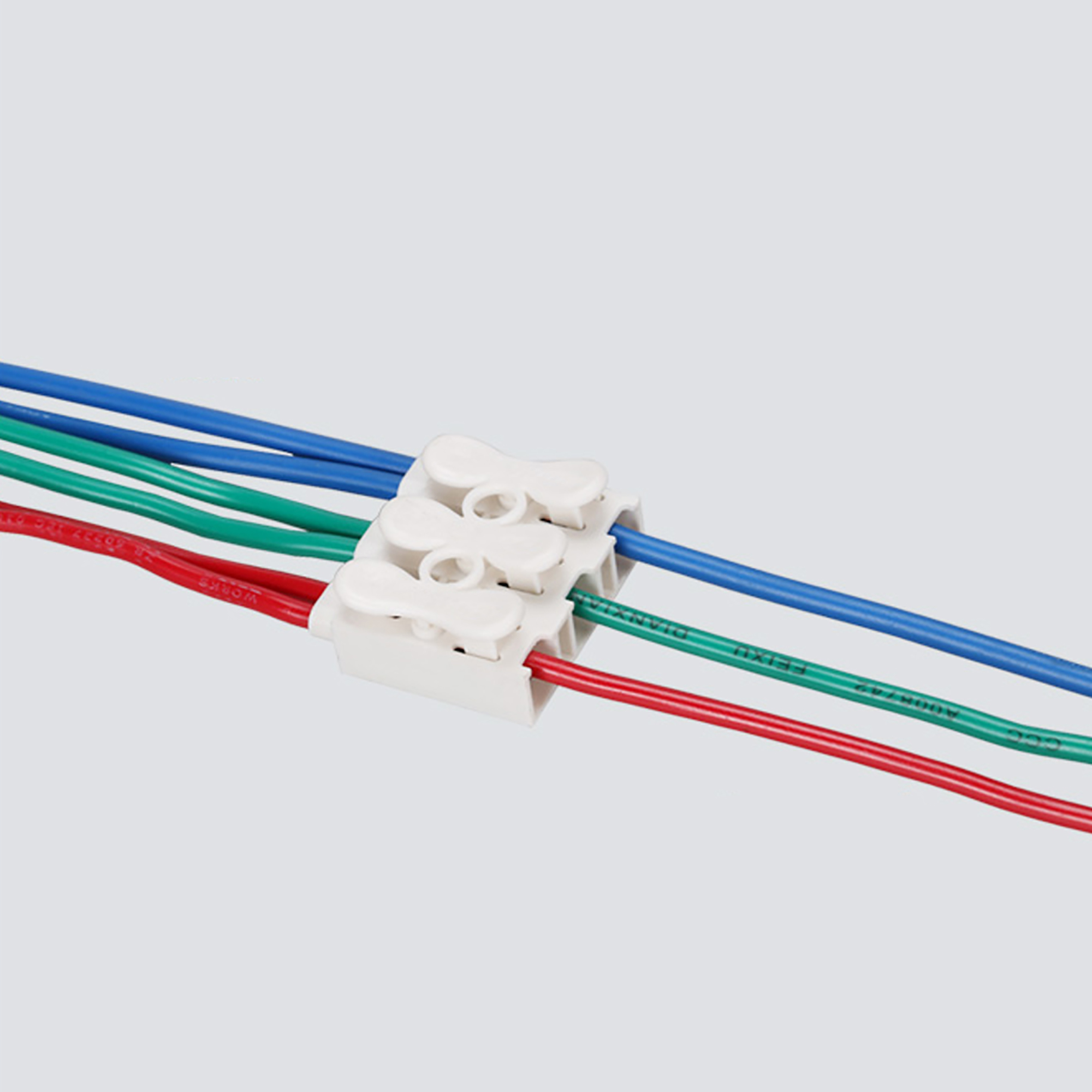 Spring Wire Connectors Quick Connector Press Type Terminal Block 3 Positions 100pcs - image 4 de 5
