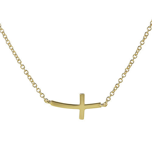 Tressa Collection Sterling Silver Cross Necklace