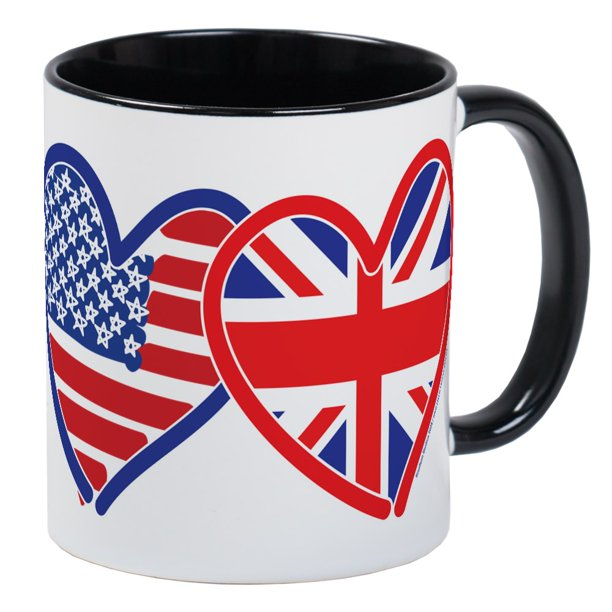 Cafepress American Flag Union Jack Hear Mug Unique Coffee Mug Coffee Cup Cafepress Walmart Com Walmart Com