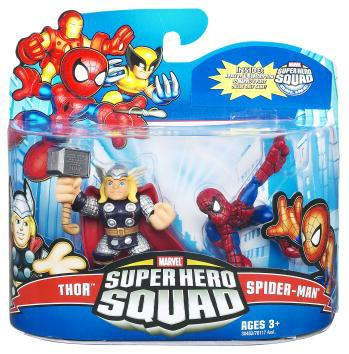 "Marvel Super Hero Squad Series 21 Spider-Man & Thor 3"" Action Figure 2-Pack"