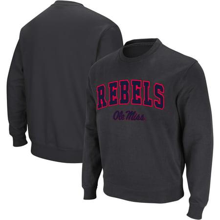 Ole Miss Fleece (Ole Miss Rebels Colosseum Arch & Logo Crew Neck Sweatshirt - Charcoal)