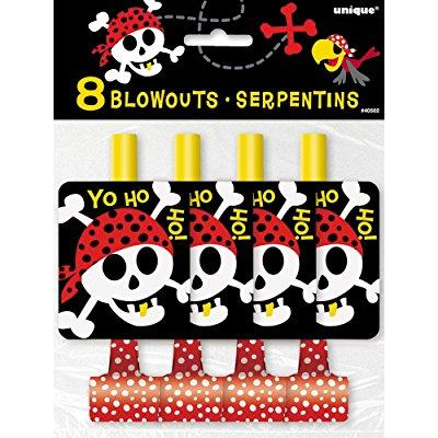 pirate party blowers, 8ct