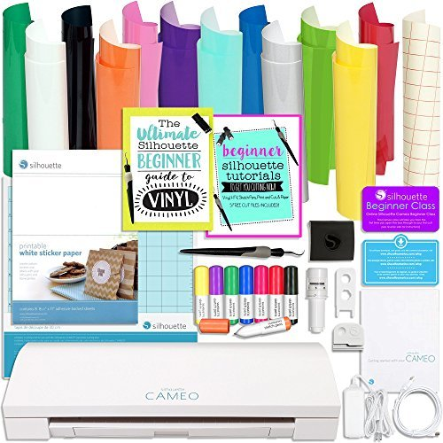 Silhouette Cameo 3 Bluetooth Bundle with Oracal 651 Vinyl...