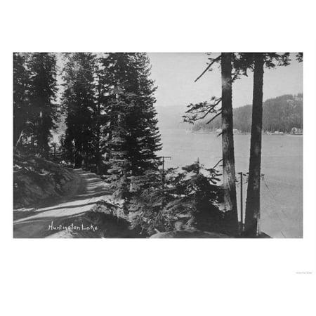 Huntington Lake, California View from Road Photograph - Huntington Lake, CA Print Wall Art By Lantern Press