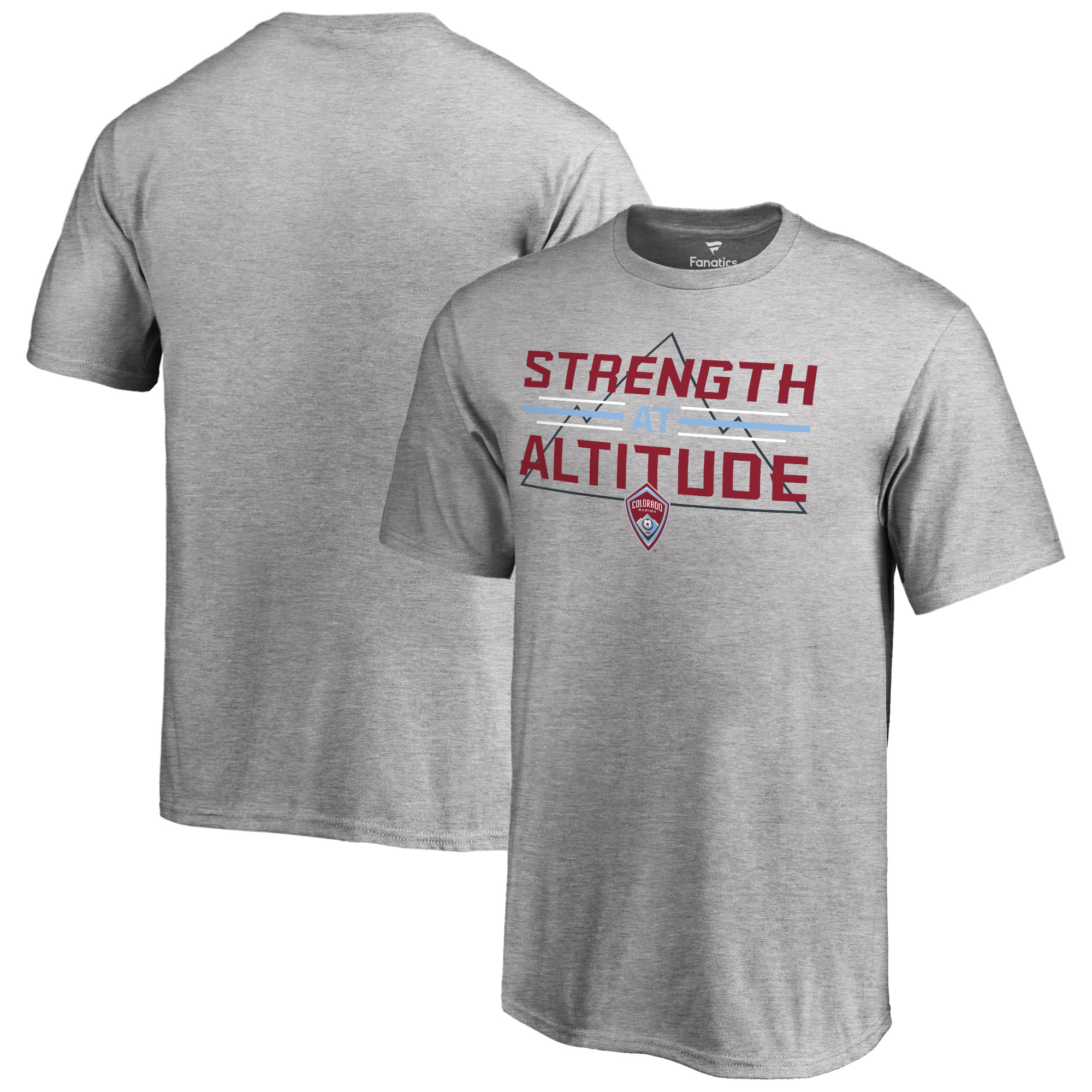 Colorado Rapids Youth Strength At Altitude T-Shirt - Heather Gray