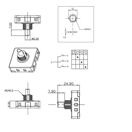 HQRP 3-Speed 4-Position Rotary Switch for Oven, Juicer