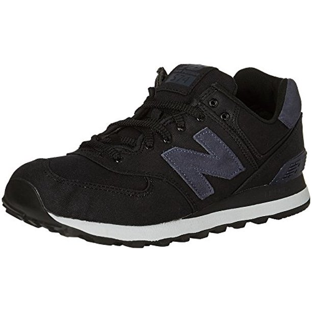 New Balance Men's 574 Canvas Waxed Pack Fashion Sneakers, Black/Outer Space (8.5 D(M) US)