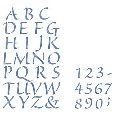 - Plaid Simply Stencil Set. Alphabet & Number, 2 Pieces