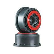2715-04 Split Six Bead-Loc Re Red/Black Slash (2) Multi-Colored
