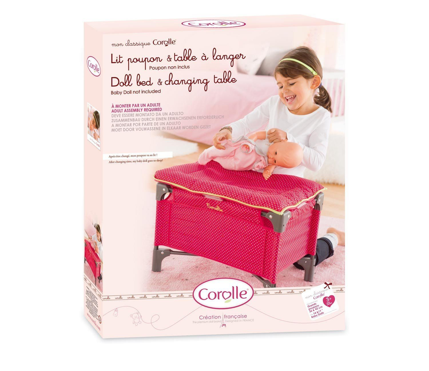 Cherry Bed & Changing Table Doll Accessory by Corolle (DMT98) by Corolle