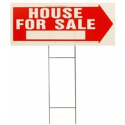 Hy-ko RS-801 10 in. X 24 in. Red & White House for Sale Sign