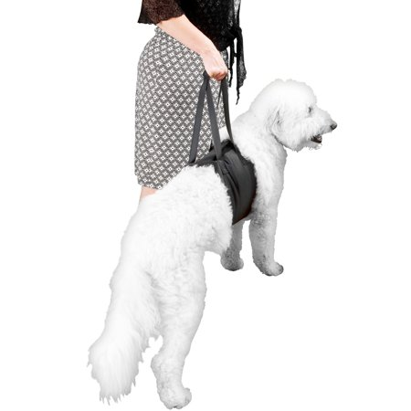 Evelots Dog Lift Harness-Adjustable Chest Strap-Handles-Supports 45-75lbs-Rehab ()