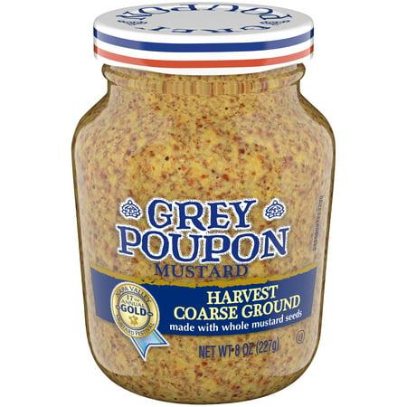 grey poupon harvest coarse ground mustard 8 oz jar walmart com