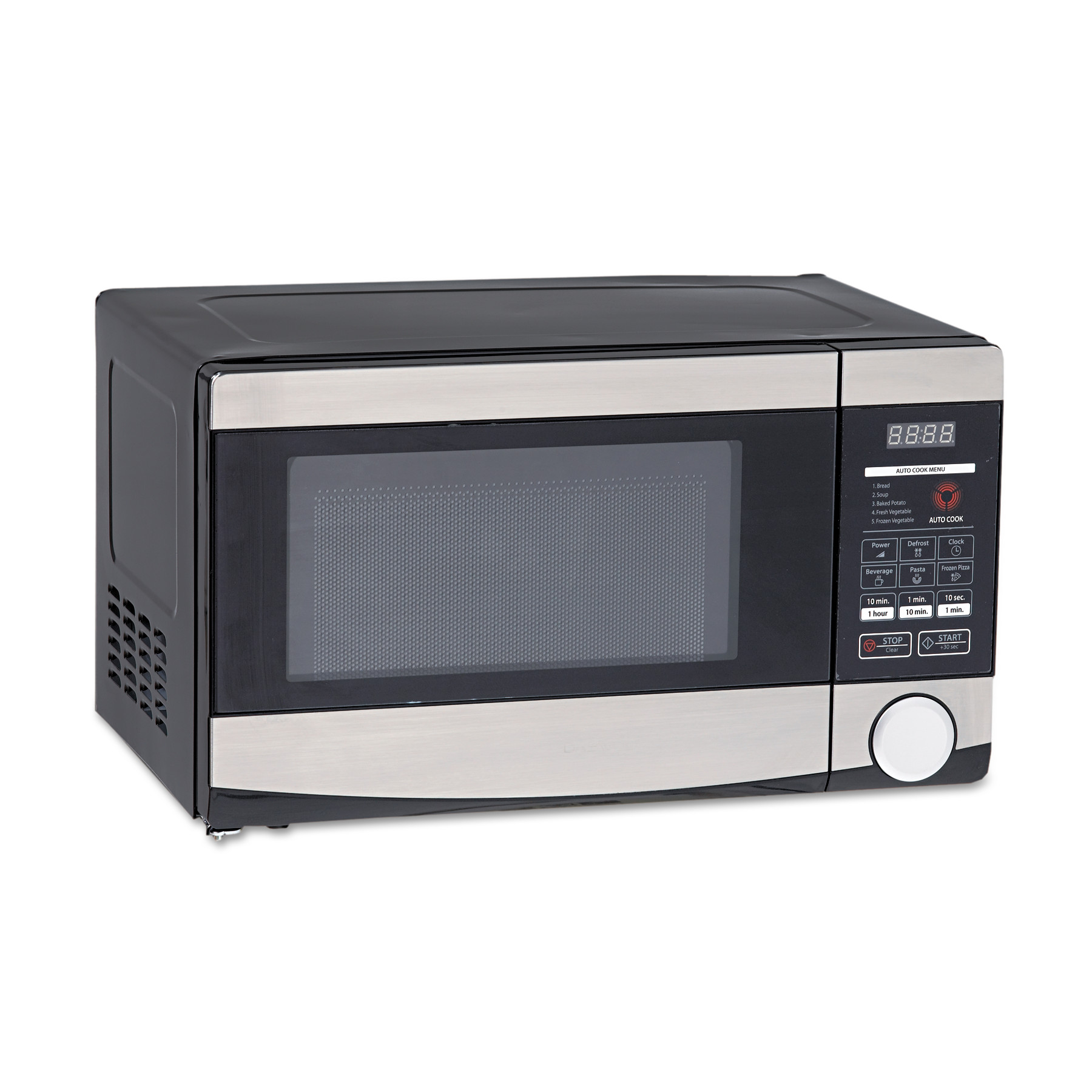 Avanti 0.7 Cu.ft Capacity Microwave Oven, 700 Watts, Stainless Steel and Black