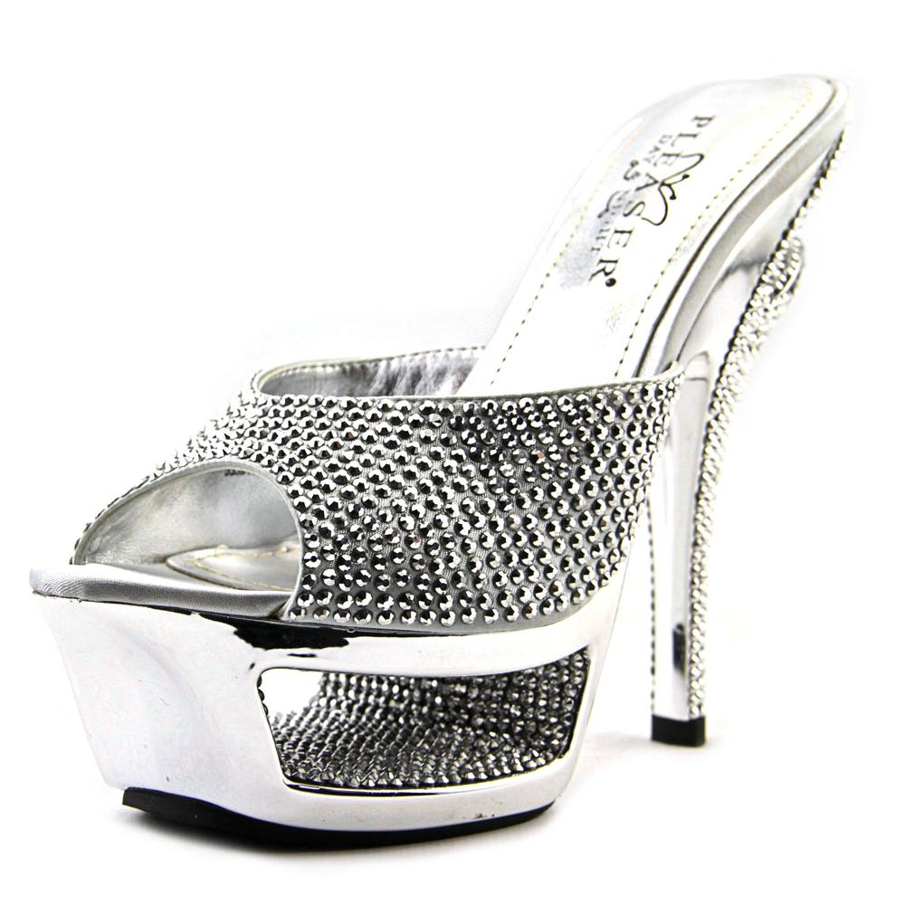 Pleaser Deluxe 601   Open Toe Canvas  Platform Sandal