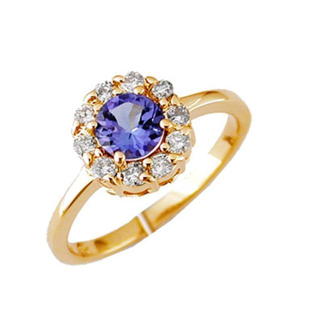14K Diamond and Tanzanite Ring Size 6