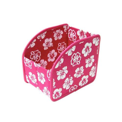 Neatnix SCSM-48 Stuff Cubby - Small - Tropical Flower Hot Pink with  White
