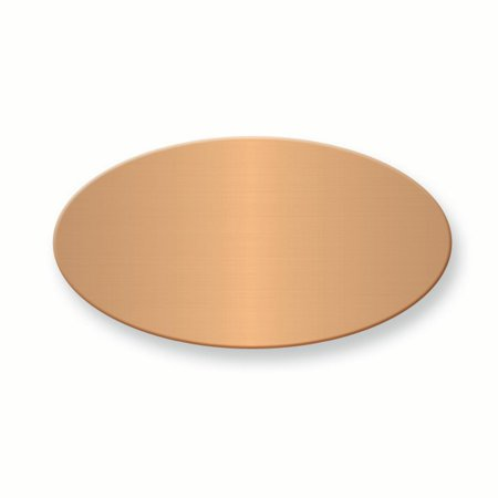 - IceCarats 1 X 7/8 Oval Copper Alum Plates Sets Of 6 Inspirational Trophy Award Engraving Plate Aluminum