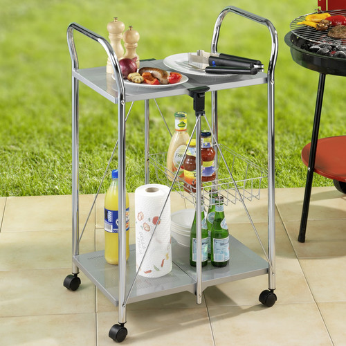 Wenko Inc Sunny Kitchen and Utility Trolley Bar Cart