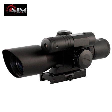 AIM Sports 2.5-10X40 Dual Illuminated Rifle Scope (Aim Sports 3 9x40 Dual Illuminated Scope)