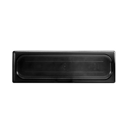 Thunder Group PLPA7120LCBK, Polycarbonate Half Size Long Solid Cover For Food Pan, Black (Solid Polycarbonate)