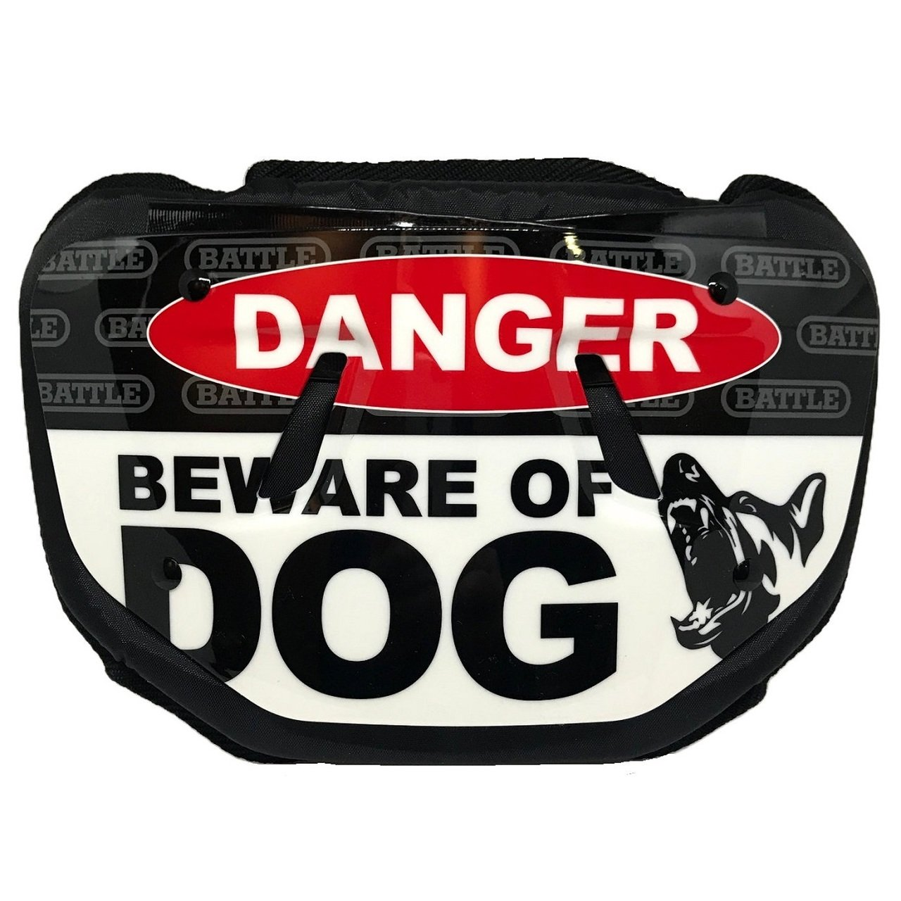 Battle Quot Beware Of Dog Quot Youth Chrome Football Back Plate Walmart Com Walmart Com