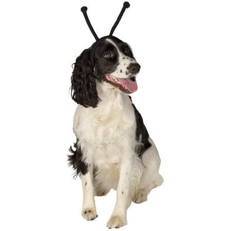Dog Alien Costume (Black Alien Antennas Headband Pet Dog Costume)
