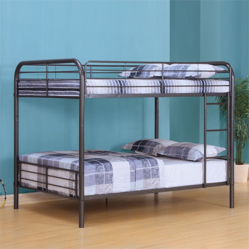 ACME Furniture Bristol Full over Full Bunk Bed in Gunmetal