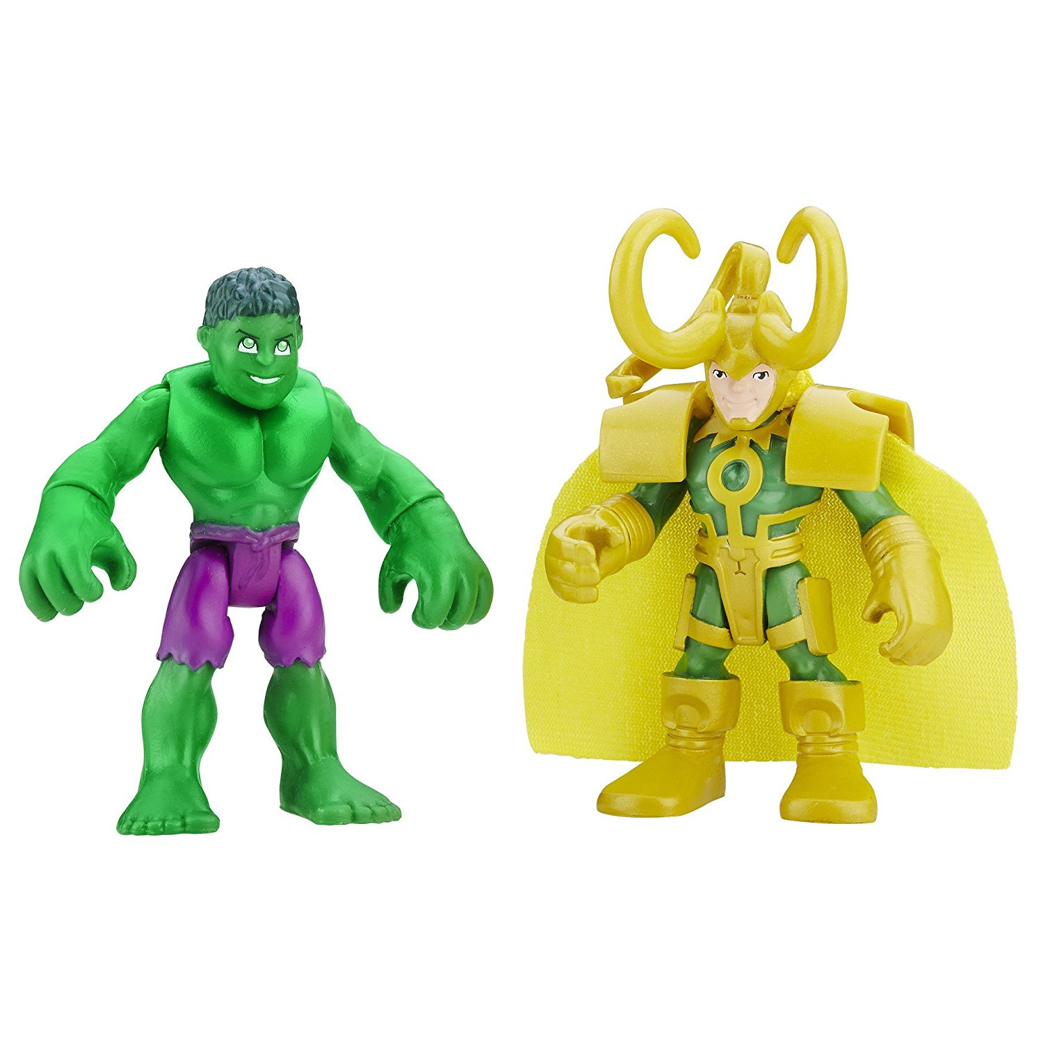 Heroes Marvel Super Hero Adventures Hulk and Loki, 2-pack includes 2 Marvel figures By... by