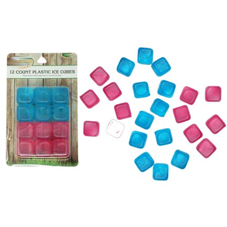 Plastic Ice Cubes, Reusable Ice Cubes, 24 Count