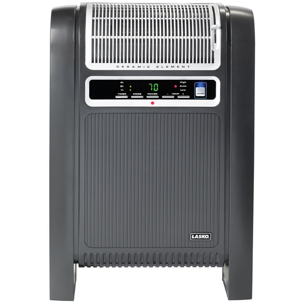 Lasko Electric Cyclonic Ceramic Heater with Ionizer and Remote Control,  760000