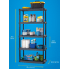 "Plano 36""W x 18""D x 74""H 5-Shelf Heavy Duty Plastic Shelving Unit, Dark Grey, 750 lb Capacity"