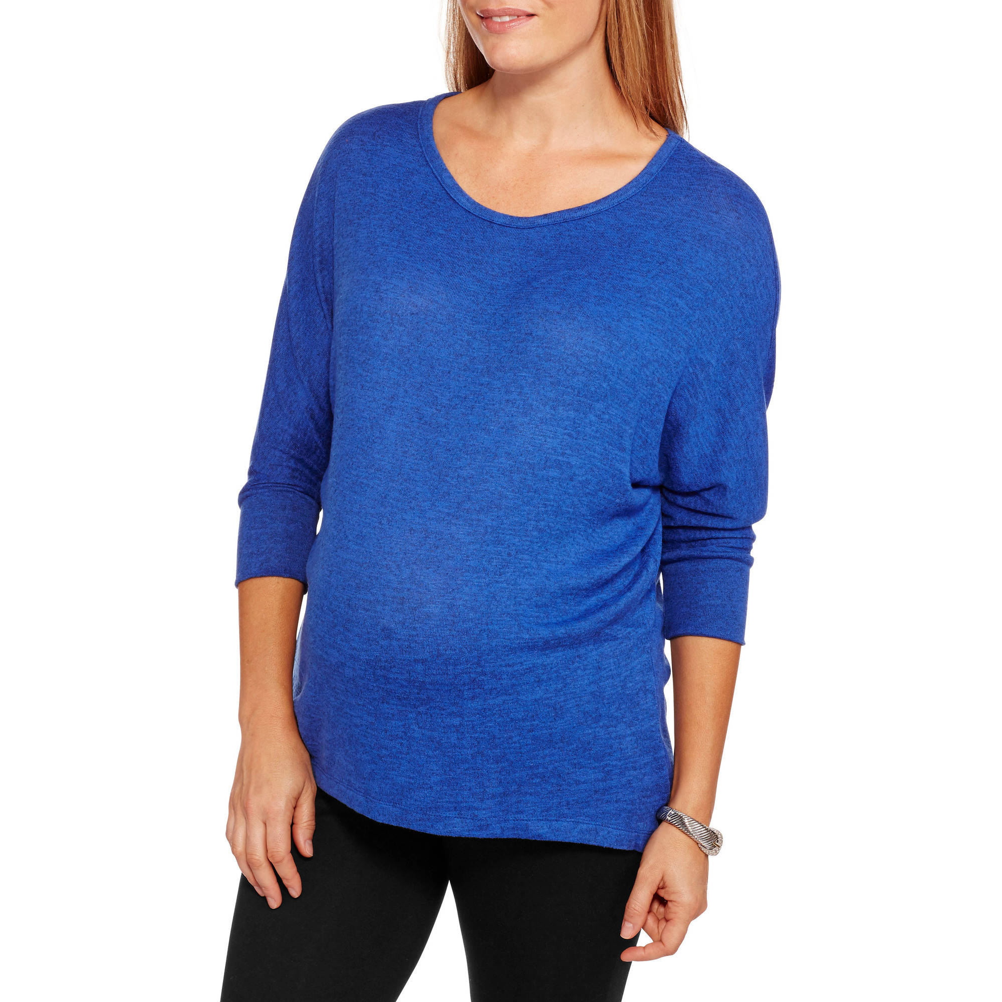 Inspire Maternity Brushed Hacci Dolman Top