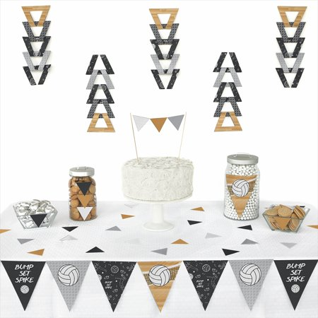 Bump Set Spike Volleyball Triangle Baby Shower Or Birthday