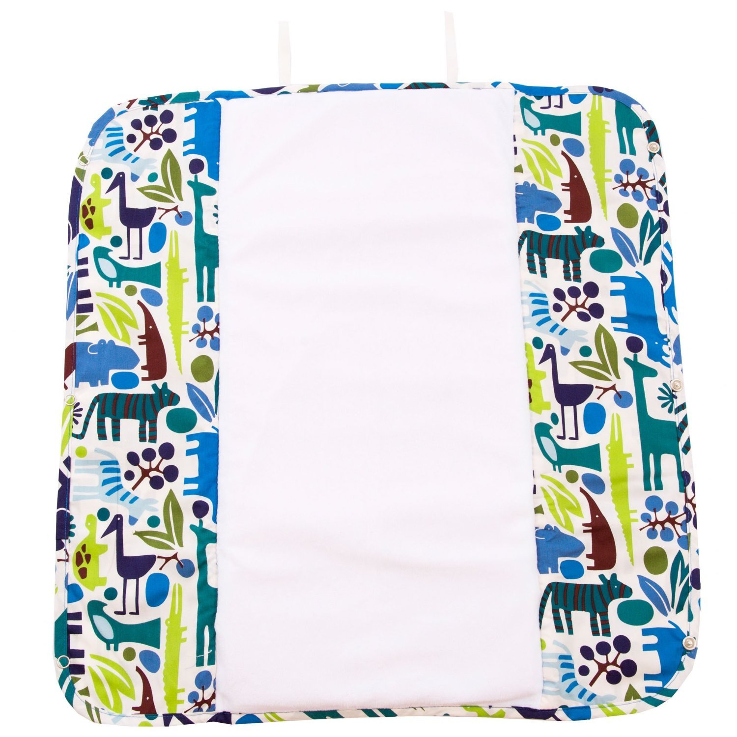 Image of Ah Goo Baby Plush Pad Changing Pad with Memory Foam - Zoo Frenzy