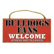 Georgia Bulldogs Official NCAA Wood Welcome Sign by SJT Enterprises 289549