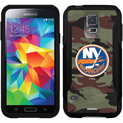 New York Islanders Traditional Camo Design on OtterBox Commuter Series Case for Samsung Galaxy S5
