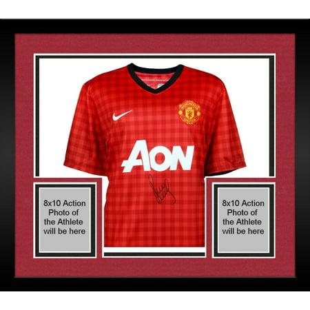 separation shoes 498c6 4de84 Framed Paul Scholes Manchester United Autographed Red Home ...