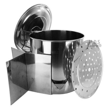 Stock Pot Stainless Steel 52 QT Steamer Brew Vaporera Divider Tamales Tamalera